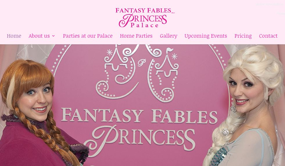 Fantasy Fables Palace Website